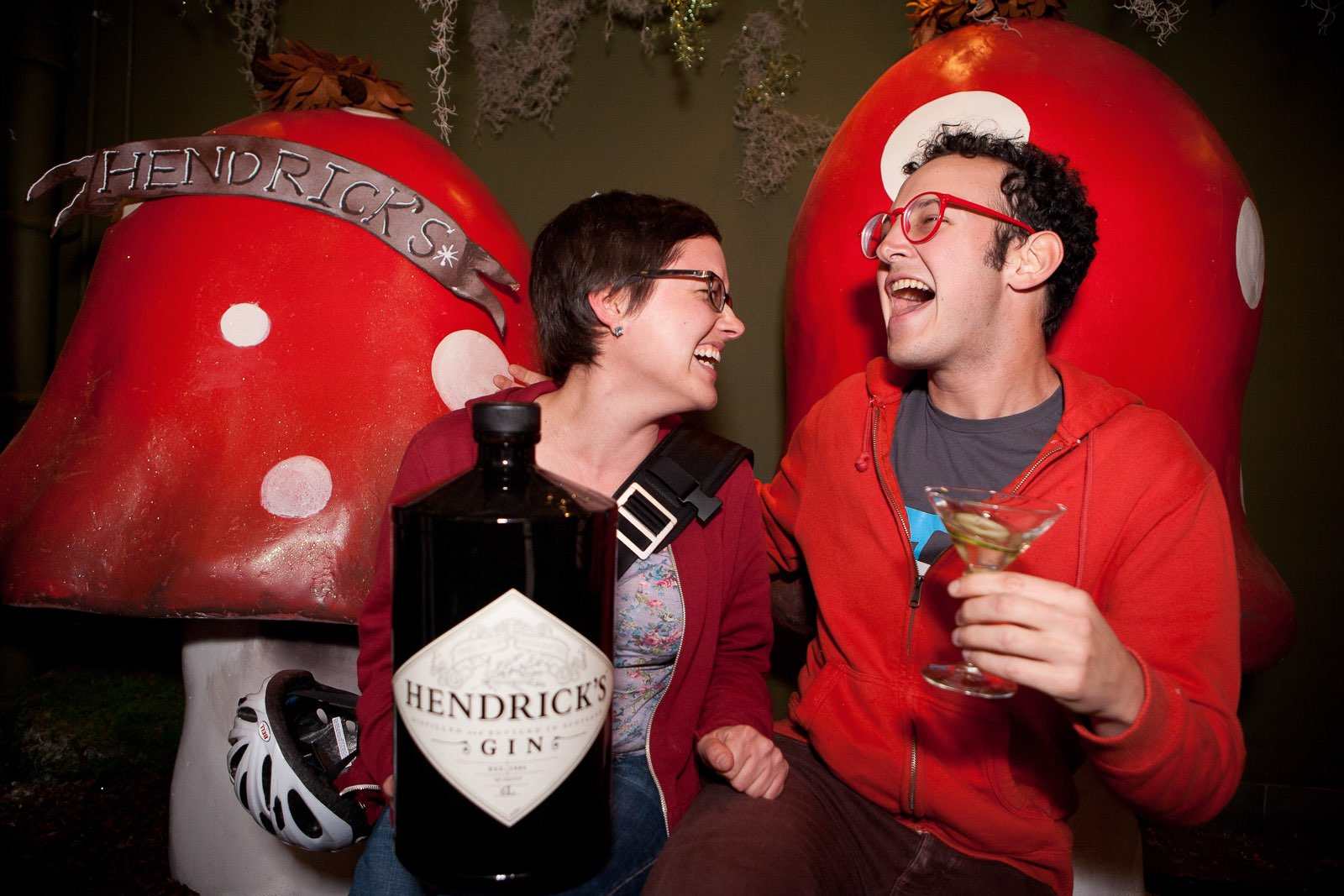 hendricks-gin-couple-laughing-cheers Eat and Drink